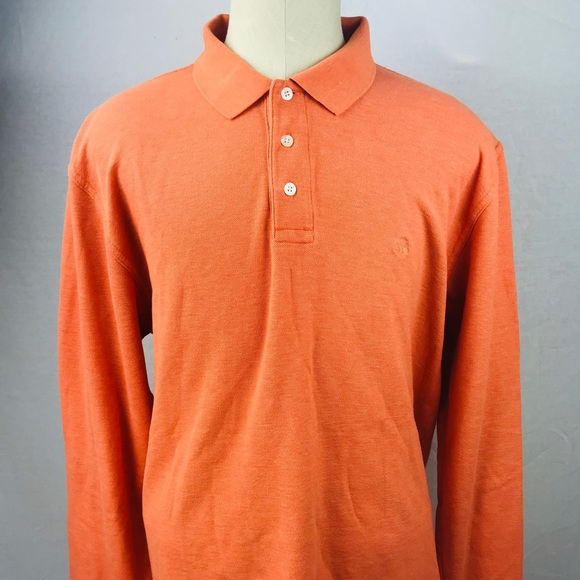 ad1589d9 Brooks Brothers Other - Brooks Brothers XL Orange long sleeve polo shirt